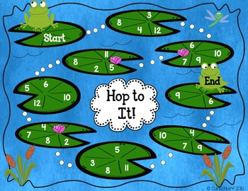 Hop to It!  Addition to 12 Freebie