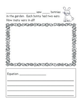 Hop to It - Easter Themed Math Story Problems