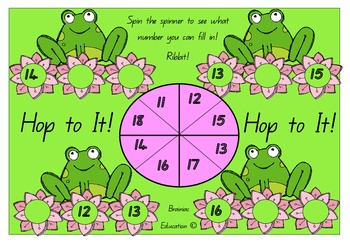 Hop to It Number Sequencing Mats