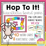 Hop to It! - Rabbit Words (VC.CV) Kinesthetic Board Game