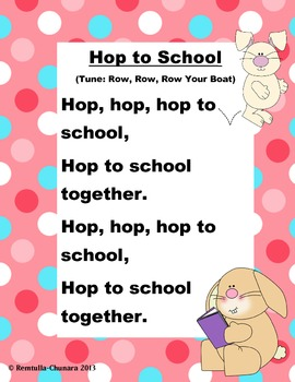 Hop to School Poem
