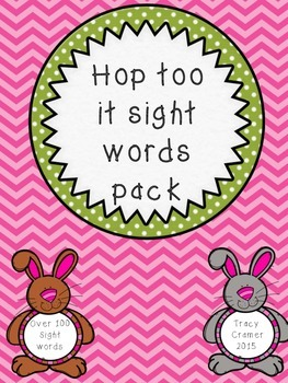 Hop too it...bunny sight words great for Easter and Spring