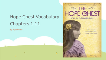 Hope Chest Chapters 1-11 Vocabulary