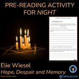 ELIE WIESEL   HOPE, DESPAIR AND MEMORY   PRE-READING ACTIV
