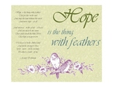 Hope Poem by Emily Dickinson Spring Free Printable