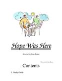 Hope Was Here Novel Study Guide