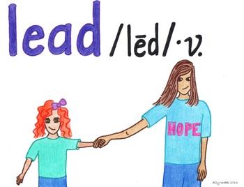 Hope Will Lead--Printable Montessori Homograph Card