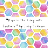 Hope is the thing with feathers - Emily Dickinson Poetry Worksheet