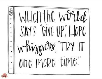 Hope motivational poster