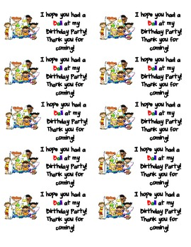Hope you Had a Ball at my Birthday Party!