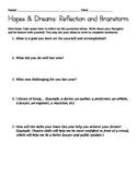 Hopes & Dreams Reflection Form (Responsive Classroom)