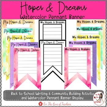 Hopes & Dreams Watercolor Pennant Banner