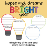 Hopes & Dreams for a Bright Year - Goal Setting Activity & Display