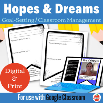 Hopes and Dreams Banner / Bunting, Responsive Classroom Ma