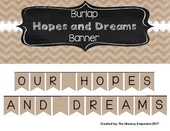 Hopes and Dreams Banner (Burlap Edition)
