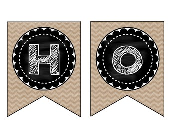 Hopes and Dreams Banner (Burlap and Chalkboard Edition)