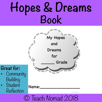 Hopes and Dreams Book Template