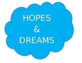 Hopes and Dreams Bulletin Board Sign