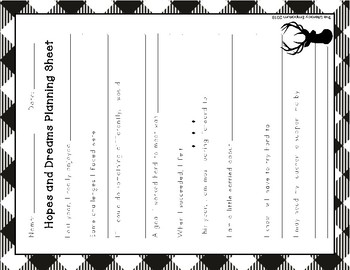 Hopes and Dreams Differentiated Planning Sheets (Buffalo Check Theme)