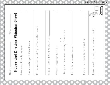Hopes and Dreams Differentiated Planning Sheets (Construction Theme)