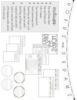 Hopes and Dreams - Goal Setting Activity & Display