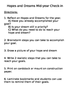 Hopes and Dreams Midyear Check-in