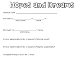 Hopes and Dreams Parent Form
