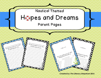 Hopes and Dreams Parent Pages
