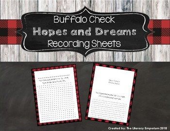 Hopes and Dreams Parent Pages (Buffalo Check Theme)