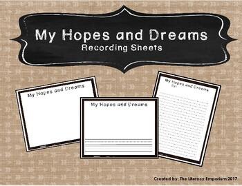Hopes and Dreams Recording Sheets (Chalkboard Edition)