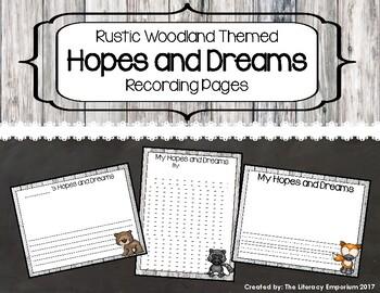 Hopes and Dreams Recording Sheets (Rustic Woodland Edition)