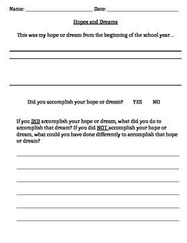 Hopes and Dreams (Responsive Classroom)