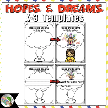 Hopes and Dreams Templates Back to School Activities