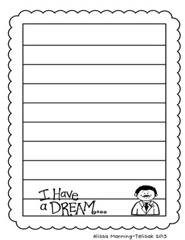 Hopes and Dreams Writing Activity {Martin Luther King Inspired}