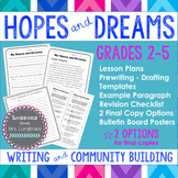 Hopes and Dreams Writing and Community Building Lessons