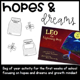 Hopes and Dreams and Growth Mindset Leo the Lightning Bug Activity