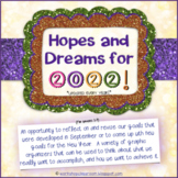 Hopes and Dreams for 2021 -- New Year's Activity