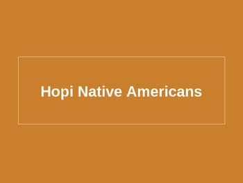 Hopi Native American Powerpoint
