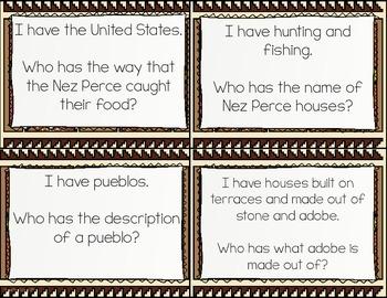 Hopi Native Americans I Have, Who Has? Whole Group Hook