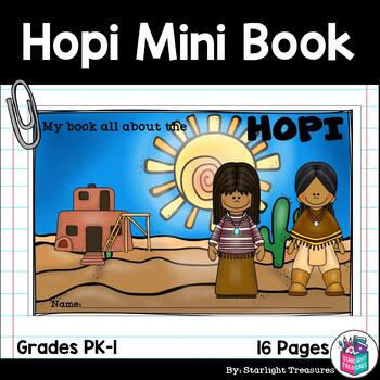 Hopi Tribe Mini Book for Early Readers - Native American Activities