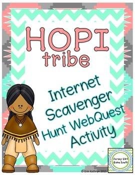 Hopi Tribe - Native Americans Internet Scavenger Hunt WebQ