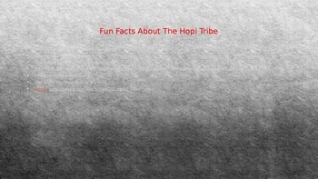 Hopi Tribe Power Point