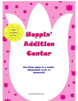 Spring Hoppin' Addition Center/Homework/Worksheet