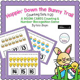 Hoppin Down the Bunny Trail BOOM CARDS Teen Numbers 11-20