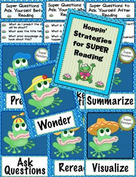 Hoppin' Frog Reading Strategies (including Aussie Version)