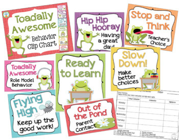 Behavior Chart - Frog Theme Clip Chart