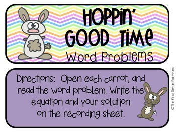 Hoppin' Good Time Word Problems