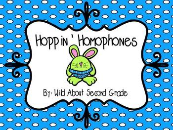 Hoppin' Homophones!  Games, Centers, Worksheet