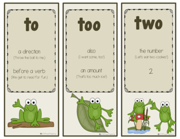 Hoppin' Homophones: To, Too, Two and There, Their, They're