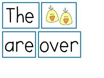 April Sight Word Sentence Building Activities